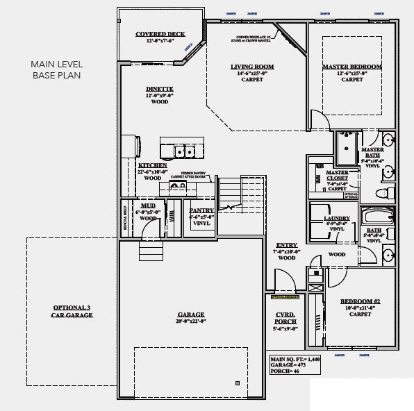 Malibu Main Level Floor Plan